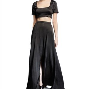 Fame and Partners Two-Piece Satin Skirt Set size 4